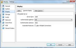 VirtualBox Machine Display Settings for Remote Display